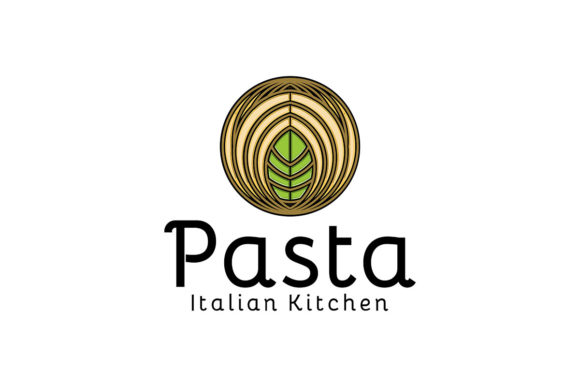 Download Free Pasta Noodle Logo Ideas Inspiration Lo Graphic By for Cricut Explore, Silhouette and other cutting machines.