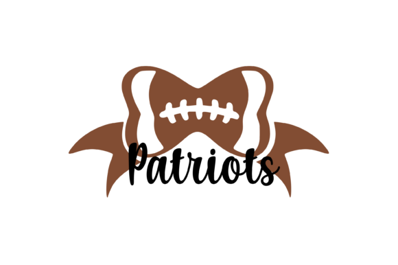 Download Free Patriots Football Bow Svg Graphic Graphic By Am Digital Designs SVG Cut Files