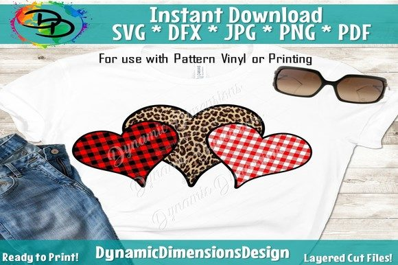 Print on Demand: Pattern Heart SVG, Leopard Heart Gráfico Crafts Por dynamicdimensions