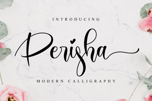Print on Demand: Perisha Script & Handwritten Font By NissaStudio