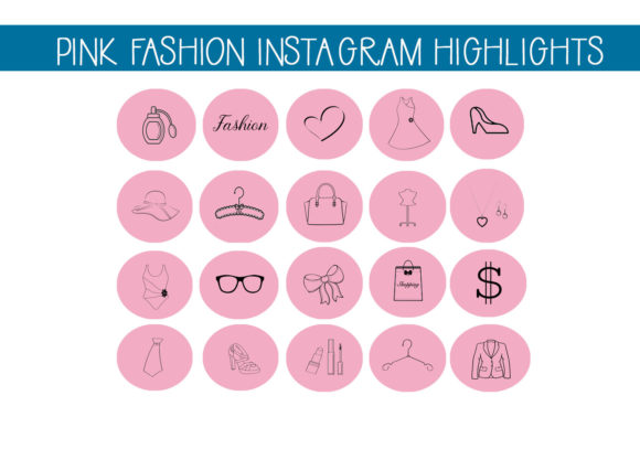 Print on Demand: Pink Fashion Instagram Highlight Icons Graphic Icons By capeairforce - Image 1