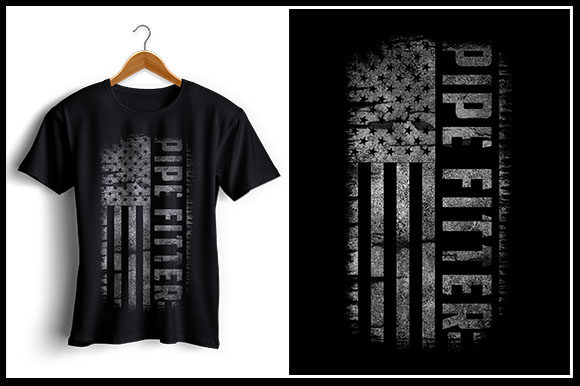 Pipe Fitter Usa Flag T Shirt Design Graphic By Zaibbb