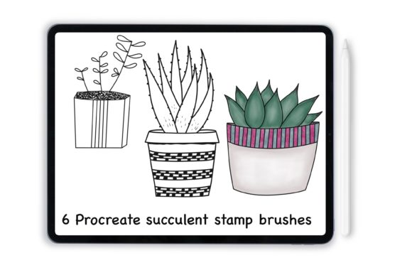 Print on Demand: Procreate Succulent Stamps for IPad Graphic Add-ons By DigitalPencilMagic
