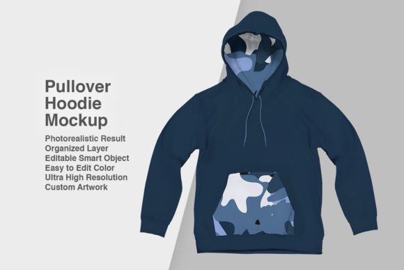 Print on Demand: Pullover-Hoodie Mockup Graphic Product Mockups By svgsupply