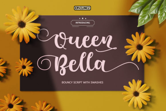 Print on Demand: Queen Bella Script & Handwritten Font By Epiclinez