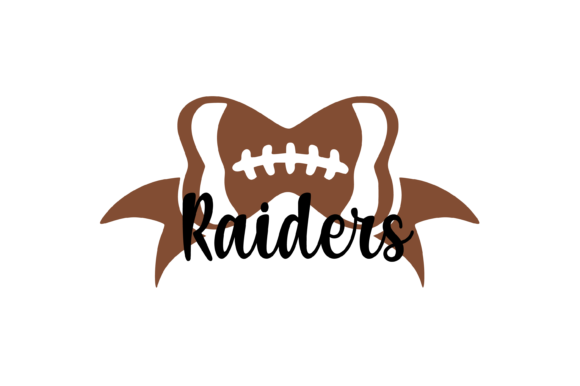 Download Free Raiders Football Bow Svg Graphic Graphic By Am Digital Designs for Cricut Explore, Silhouette and other cutting machines.