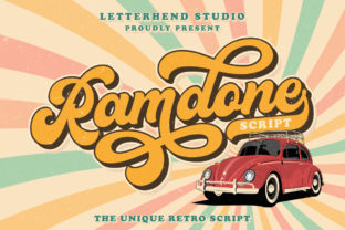 Print on Demand: Ramdone Script & Handwritten Font By letterhend