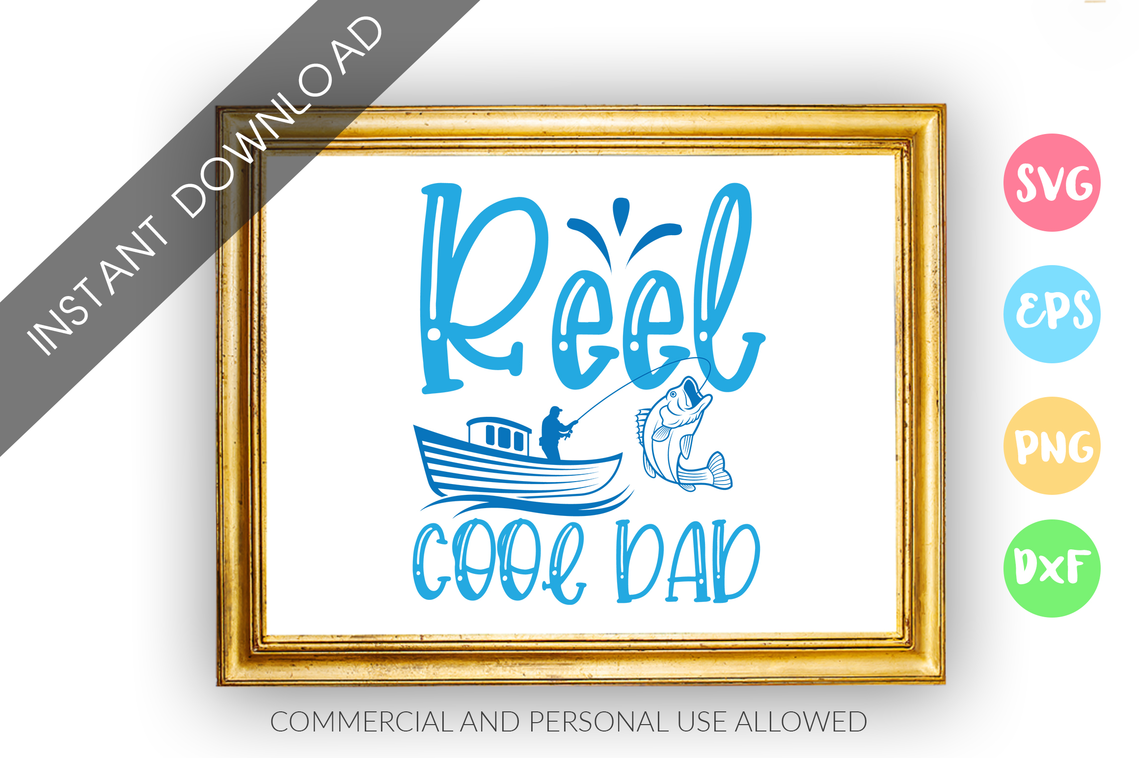Download Free Reel Cool Dad Graphic By Designfarm Creative Fabrica for Cricut Explore, Silhouette and other cutting machines.