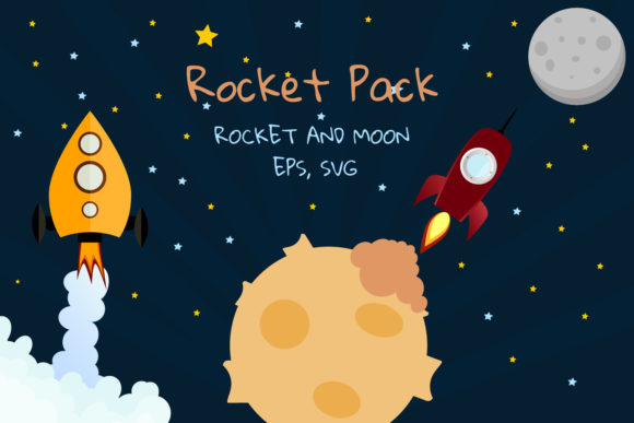 Download Free Rocket Clipart Space Clipart Graphic By Igraphic Studio for Cricut Explore, Silhouette and other cutting machines.