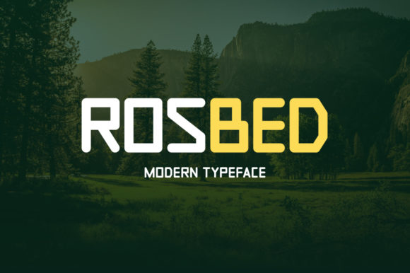 Print on Demand: Rosbed Display Font By Instagram Fonts