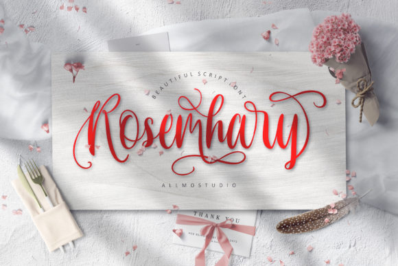 Print on Demand: Rosemhary Script & Handwritten Font By AllmoStudio
