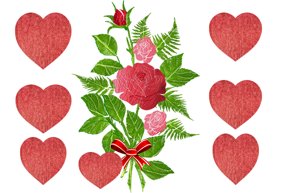 Print on Demand: Roses & Hearts :-Valentine Graphic Illustrations By arts4busykids
