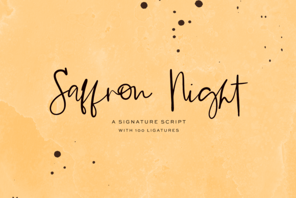 Print on Demand: Saffron Night Script & Handwritten Font By BeckMcCormick