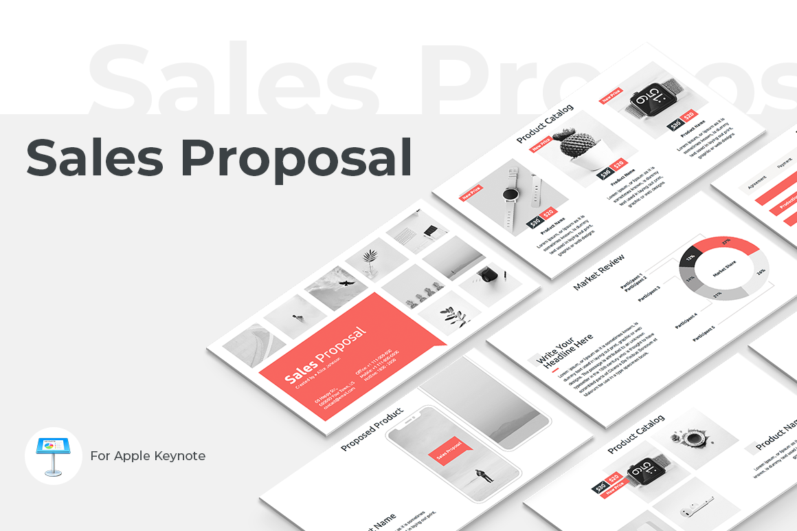Download Free Sales Proposal Keynote Template Graphic By Jetztemplates for Cricut Explore, Silhouette and other cutting machines.