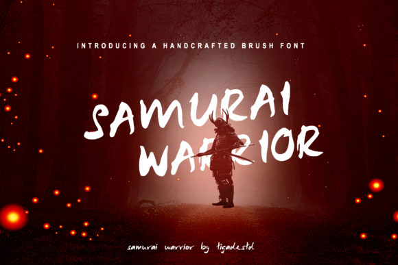 Print on Demand: Samurai Warrior Display Font By Tigade std