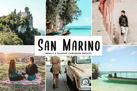 Print on Demand: San Marino Lightroom Presets Pack Graphic Actions & Presets By Creative Tacos