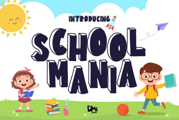 Print on Demand: School Mania Script & Handwritten Font By dmletter31
