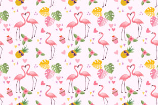 Download Free Seamless Pattern With Cute Flamingo Graphic By Ranger262 for Cricut Explore, Silhouette and other cutting machines.