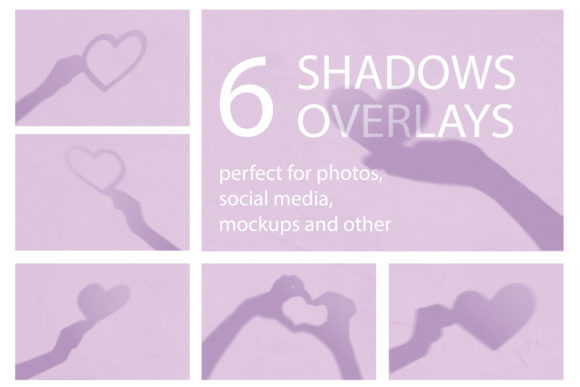 Print on Demand: Set of Valentine Shadows Overlay Mockup Graphic Textures By Natalia Arkusha