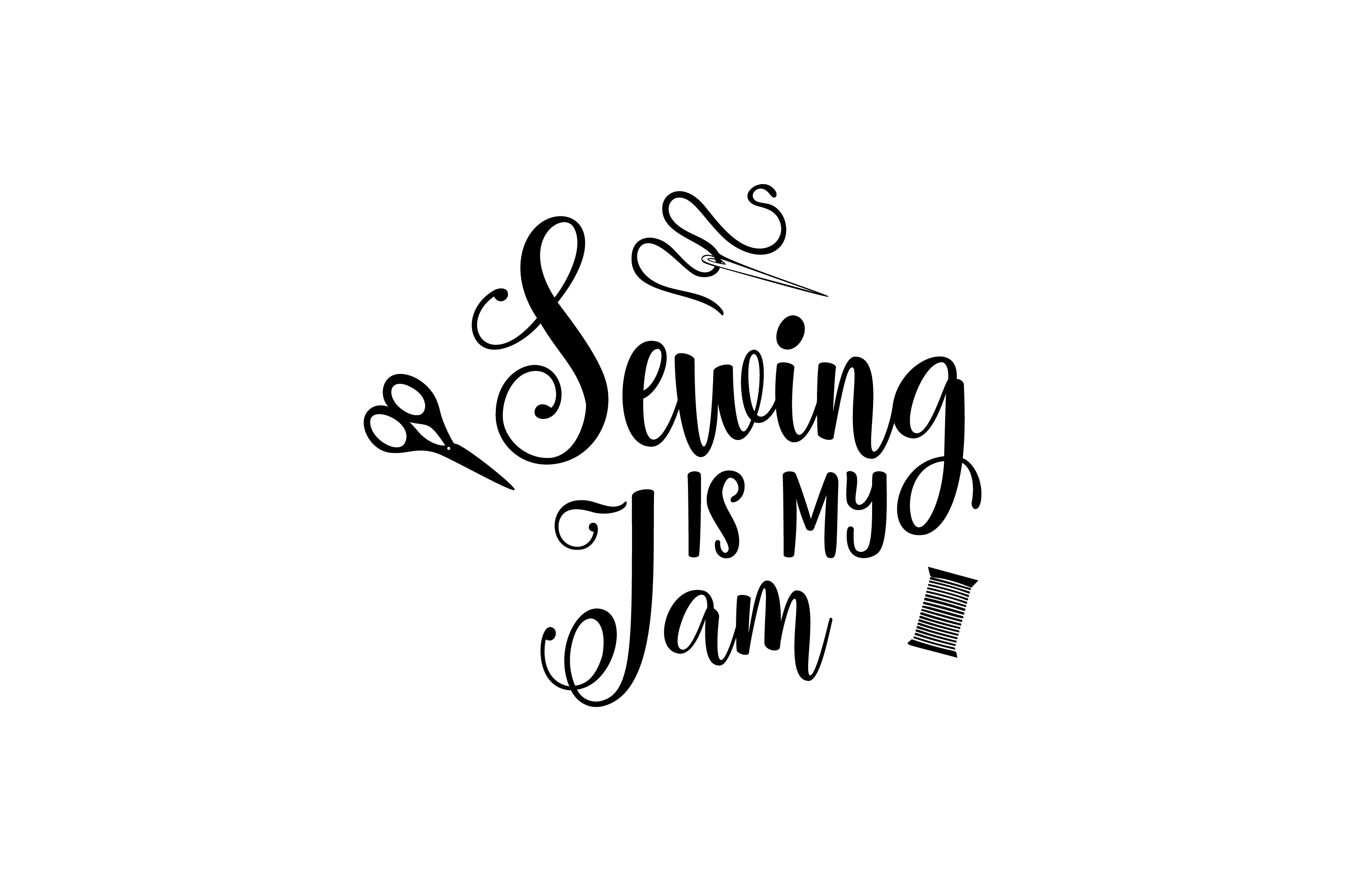 Download Free Sewing Is My Jam Graphic Graphic By Am Digital Designs for Cricut Explore, Silhouette and other cutting machines.