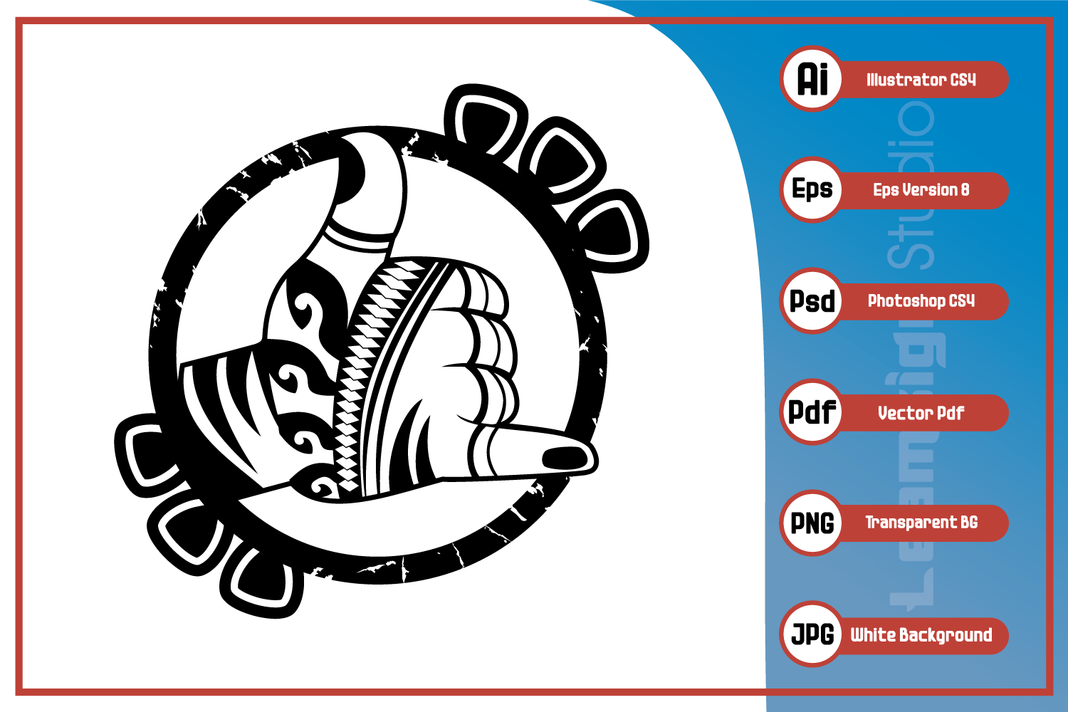 Download Free Shaka Hand Sign Design Graphic By Leamsign Creative Fabrica for Cricut Explore, Silhouette and other cutting machines.
