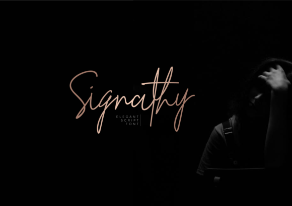 Print on Demand: Signathy Script & Handwritten Font By ketapelcreative