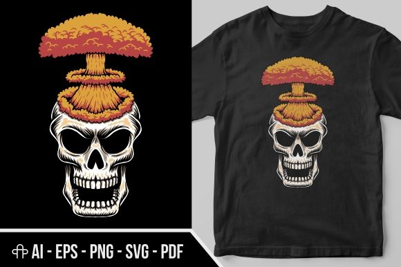 Print on Demand: Skull Head Nuke Graphic Illustrations By Andypp