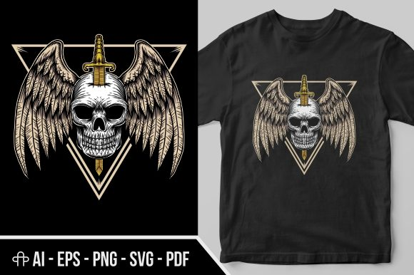 Print on Demand: Skull Wing Badge Graphic Illustrations By Andypp