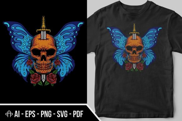 Print on Demand: Skull Wing Butterfly Graphic Illustrations By Andypp