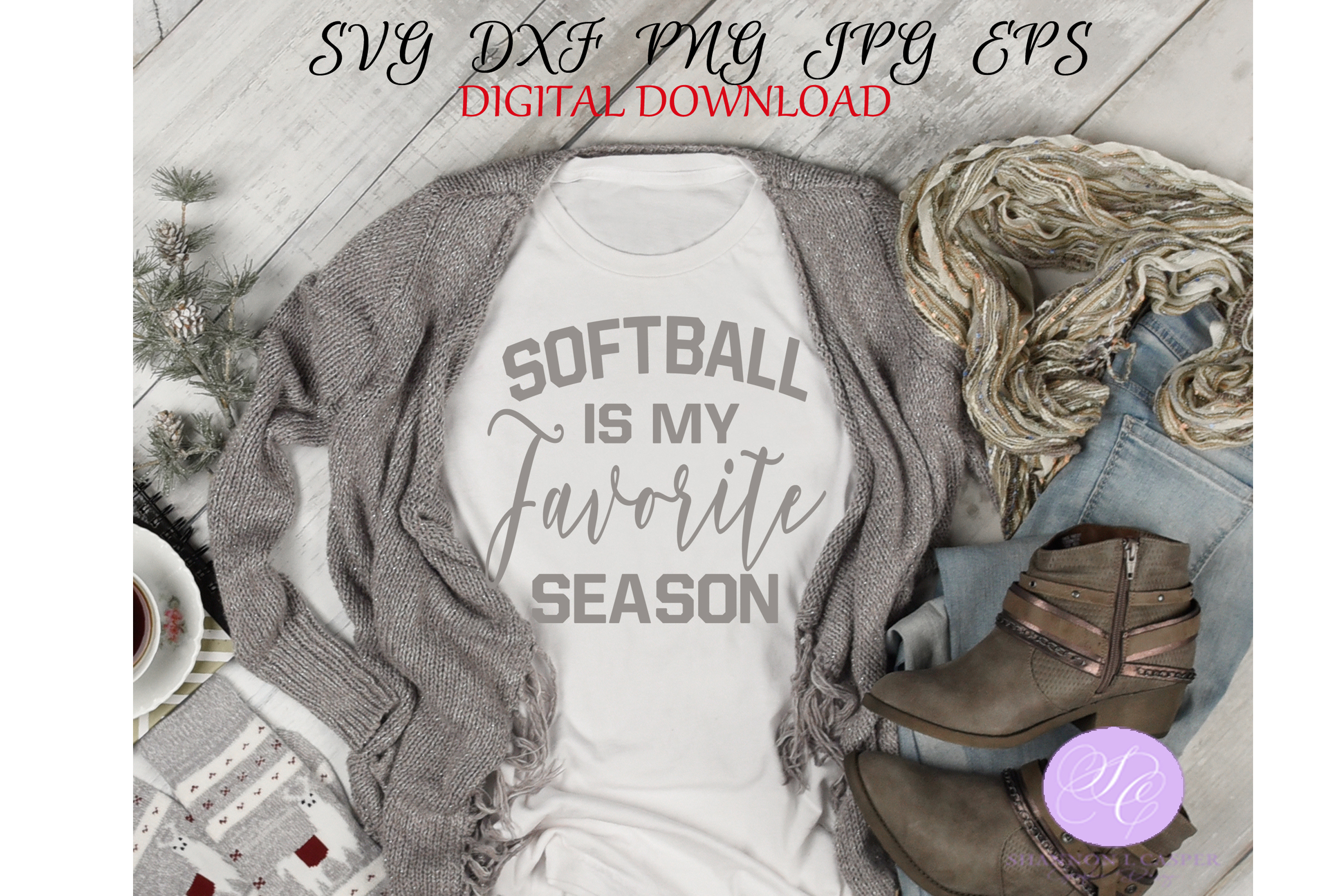 Download Free Softball Is My Favorite Season Graphic By Shannon Casper for Cricut Explore, Silhouette and other cutting machines.