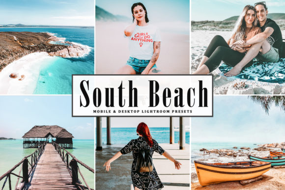 Print on Demand: South Beach Lightroom Presets Pack Graphic Actions & Presets By Creative Tacos
