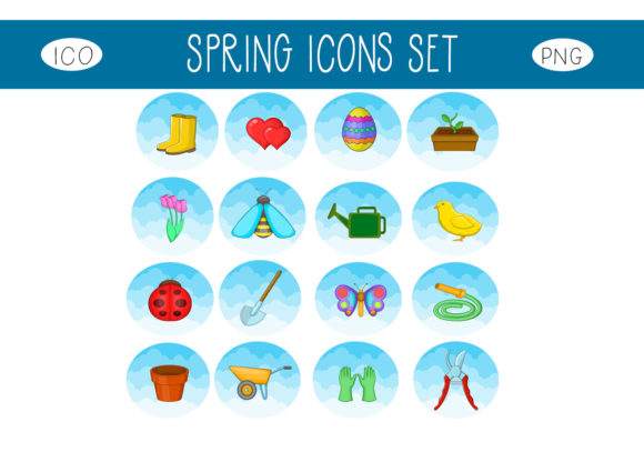Print on Demand: Spring Icons Set Graphic Icons By capeairforce - Image 1