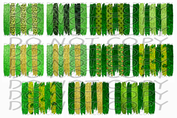 St. Patrick's Day Brush Stroke Bundle Graphic Print Templates By rebecca19