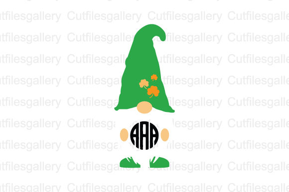 St Patricks Gnome Monogram SVG Graphic Crafts By cutfilesgallery