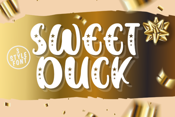 Print on Demand: Sweet Duck Sans Serif Schriftarten von Fallengraphic