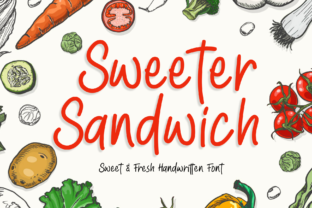 Print on Demand: Sweeter Sandwich Display Font By MJB Letters