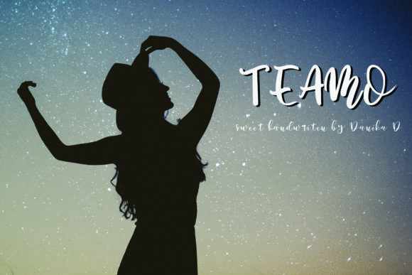 Print on Demand: Teamo Script & Handwritten Font By Danika D.