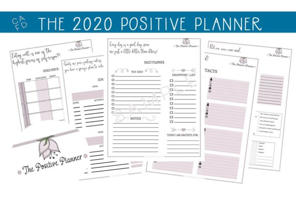 Print on Demand: The 2020 Positive Planner - Editable! Graphic Print Templates By capeairforce - Image 1