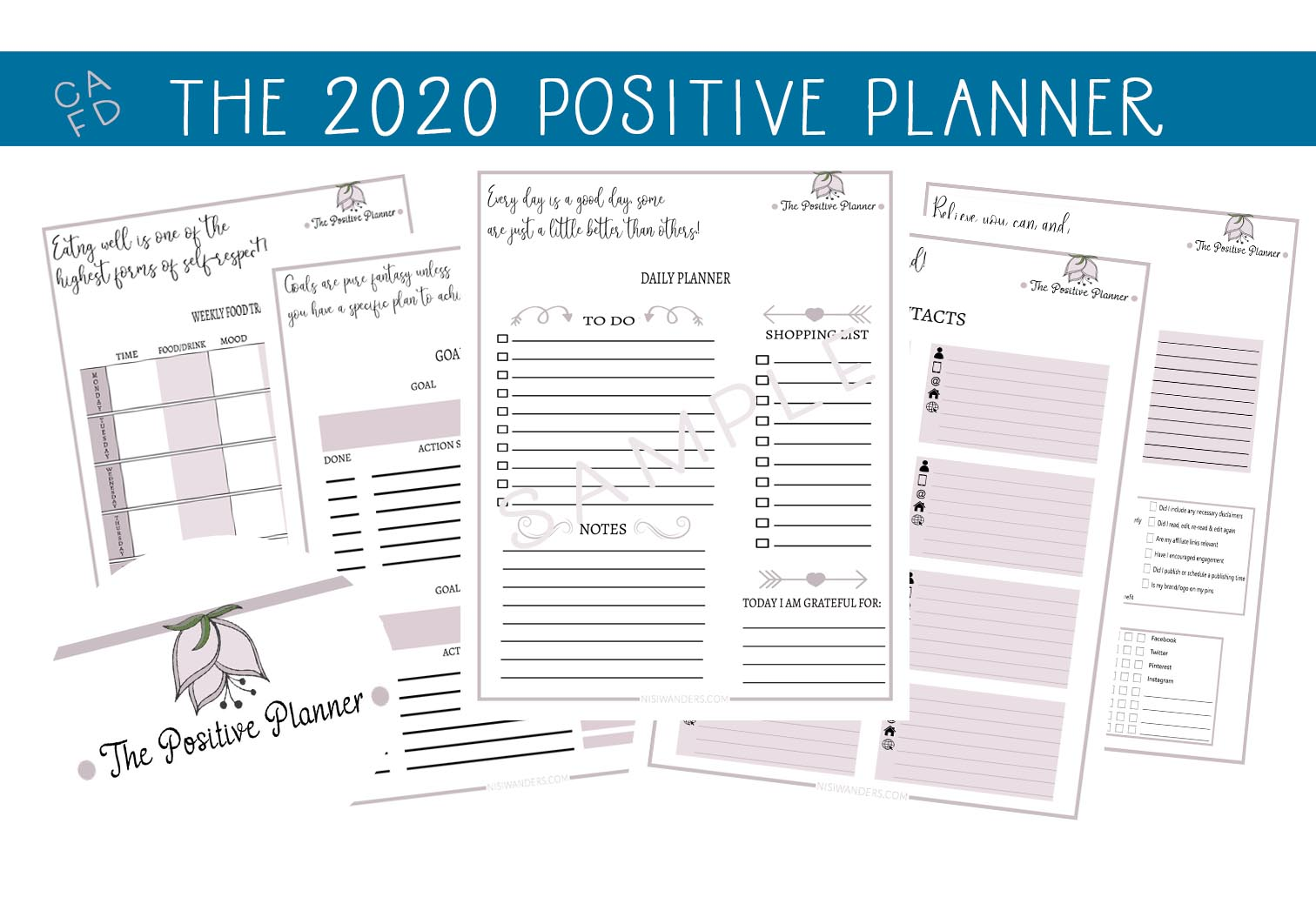 Download Free The 2020 Positive Planner Graphic By Capeairforce Creative Fabrica SVG Cut Files