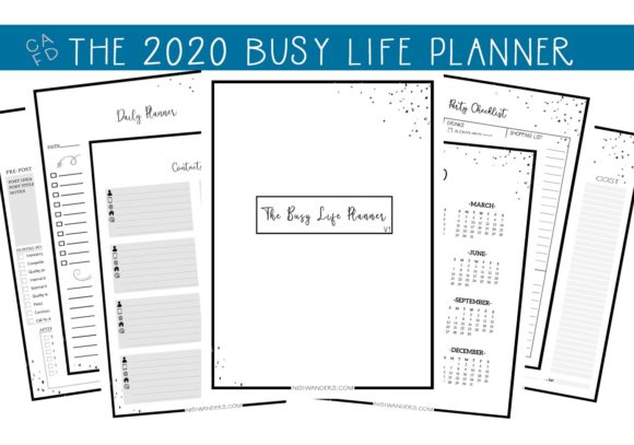 Print on Demand: The Busy Life Planner  (V1) Graphic Print Templates By capeairforce