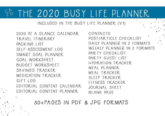 Download Free The Busy Life Planner V1 Graphic By Capeairforce Creative for Cricut Explore, Silhouette and other cutting machines.