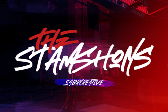 Print on Demand: The Stamshons Display Font By sabrcreative