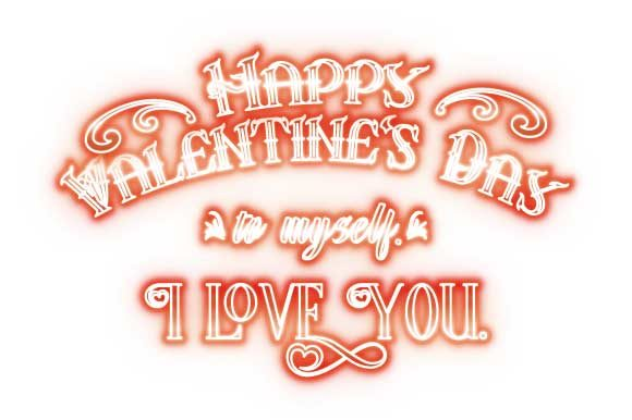 Download Free To Myself Funny Happy Valentine S Lights Graphic By Graphicsfarm for Cricut Explore, Silhouette and other cutting machines.