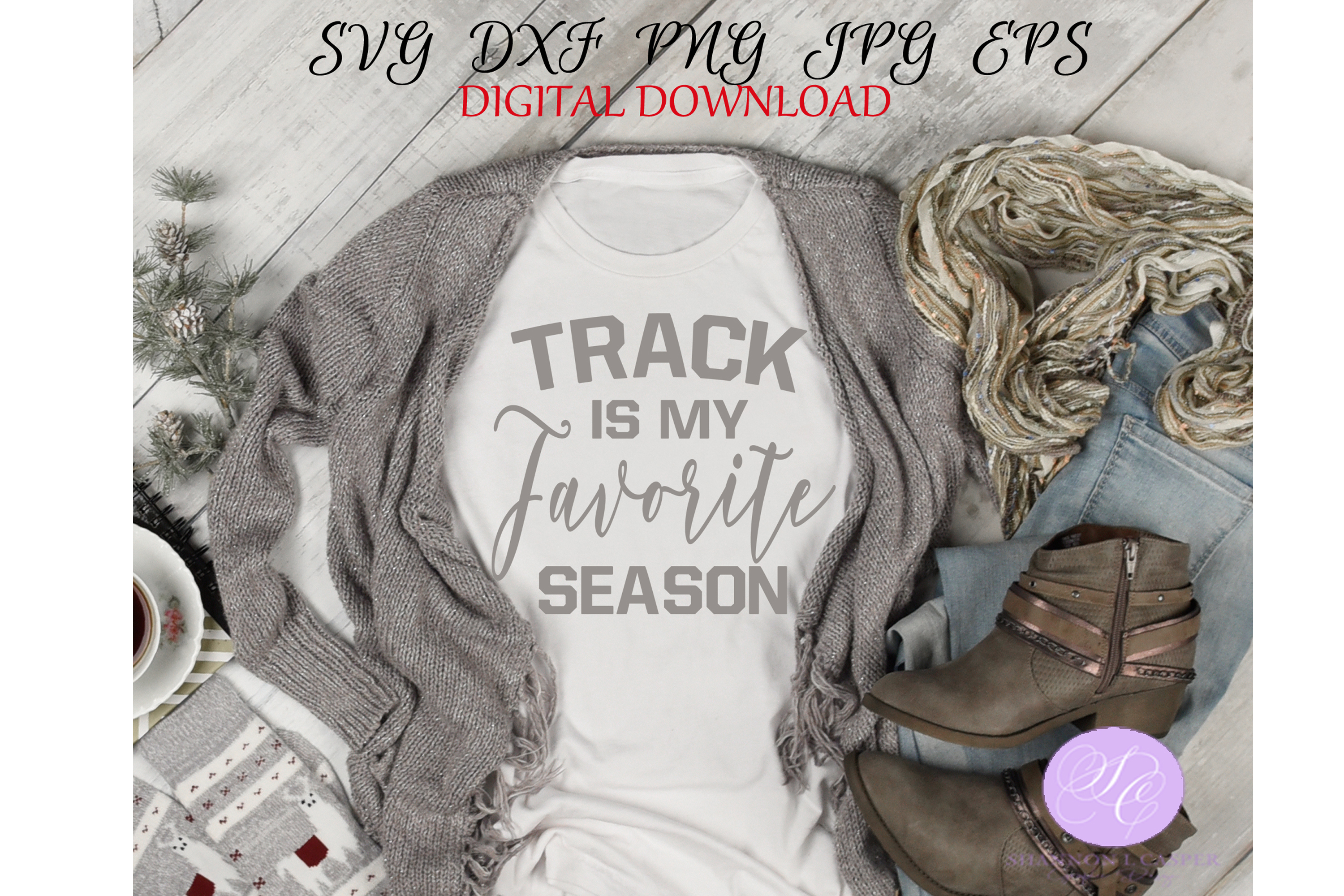 Download Free Track Is My Favorite Season Graphic By Shannon Casper Creative for Cricut Explore, Silhouette and other cutting machines.