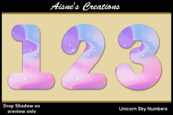 Print on Demand: Unicorn Sky Numbers Graphic Objects By Aisne
