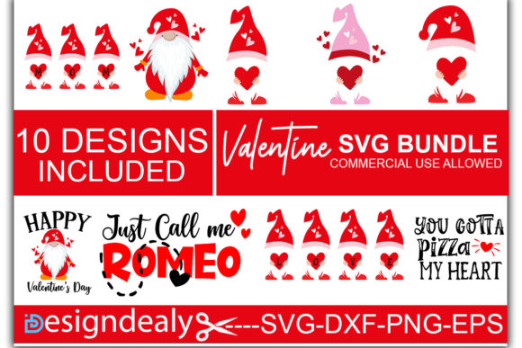 Print on Demand: Valentine Love SVG  Bundle Grafik Druck-Templates von Designdealy.com