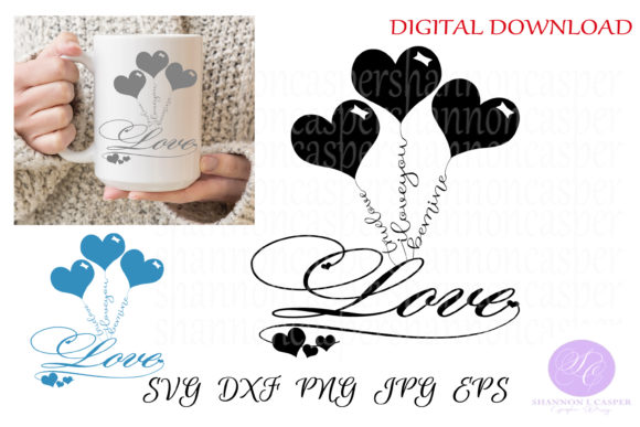 Print on Demand: Valentine's Balloon Bouquet Graphic Objects By Shannon Casper