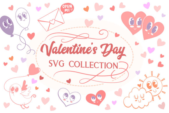 Print on Demand: Valentine's Day Collection- 9 Items Graphic Crafts By tatiana.cociorva - Image 1