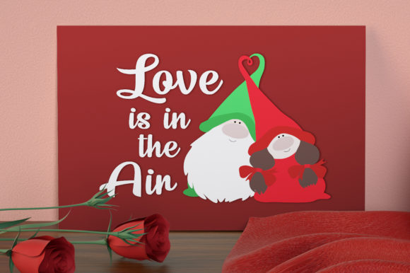 Valentines Gnome Svg, Love is in the Air Graphic Crafts By All About Svg - Image 4