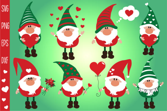 Valentines Gnomies Bundle Svg, Gnome Svg Graphic Crafts By All About Svg - Image 2